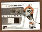 John Leclair 02 03 In The Game Used Stick Patch Flyers