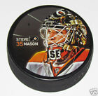 STEVE MASON Philadelphia Flyers PLAYER PHOTO SOUVENIR PUCK 2014 35 Sher Wood