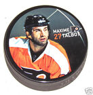 MAXIME TALBOT Philadelphia Flyers PLAYER PHOTO PUCK 2013 NEW 27 In Glas Co