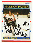 BILL BARBER PHILADELPHIA FLYERS SIGNED CARD AUTOGRAPH
