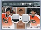11 12 UD SP GAME USED CHRIS PRONGER SCOTT HARTNELL 2C PATCH AF2 PH FLYERS  25