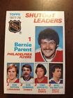 1978 79 Topps Hockey 70 Shutout Leaders NrMt Bernie Parent Flyers Ken Dryden Can