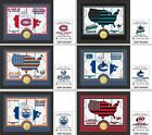 Choose Your NHL Team Country Minted Bronze Medallion Coin Photo Mint