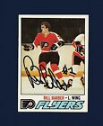 Bill Barber signed Philadelphia Flyers 1977 Topps hockey card