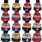 New Era NHL RETRO CHILL Hockey Pom Pom Knit Beanie Cap Hat Team Colors One Size