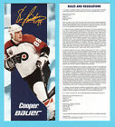 Eric Lindros Cooper Bauer Hockey Ad Coupon Brochure Contest Entry Form