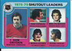 Ken Dryden Bernie Parent Tony Esposito 1979 80 Topps Shutout Leaders Card  8