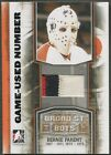 2011 12 ITG Broad Street Boys M43 Bernie Parent Game Used Numbers Patch 4
