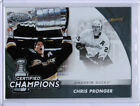 11 12 CERTIFIED CHRIS PRONGER 13 STANLEY CUP CHAMPIONS INSERT CARD ANAHEIM DUCKS