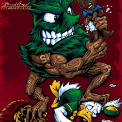 Stanford Tree Mascot T-Shirt Illustration