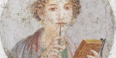 Помпейская фреска которую считают Сапфо