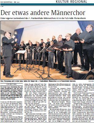 RHEINPFALZ Artikel vom 06.10.2011