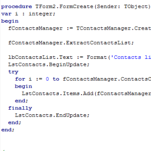 Delphi XE5 Firemonkey Android Contacts