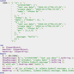 Delphi Firemonkey Android IOS JSON