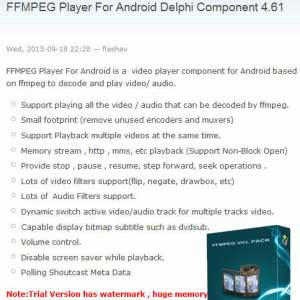 Play Video On Android In Delphi Firemonkey