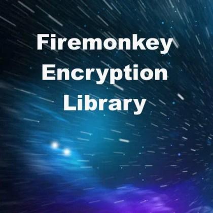 Delphi XE7 Firemonkey AES, DES, 3DES, Blowfish, Twofish, SHA, MD5, RSA Library