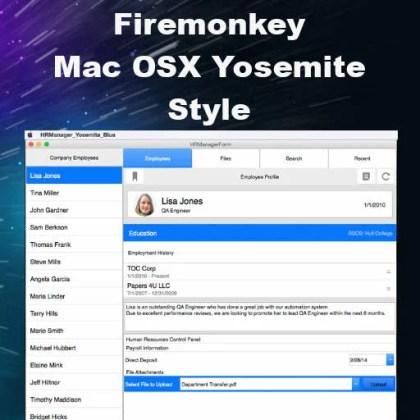 Delphi XE7 Firemonkey Mac OSX Yosemite Style