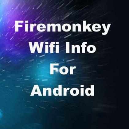Delphi XE7 Firemonkey Android Wifi Info