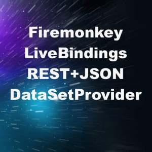 Delphi XE7 Firemonkey FireDAC Datasnap REST JSON Data Set Provider