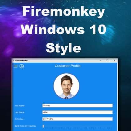 Delphi XE8 Firemonkey Windows 10 Style