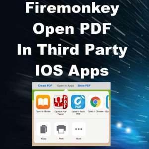 Delphi XE8 Firemonkey Create Open In App View PDF IOS