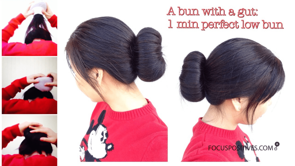 A bun with a gut: An alternative DIY LOW SOCK BUN for stubborn hair perfect buns every time