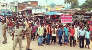 mass protest in Muniguda