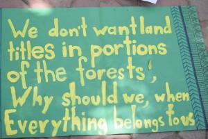 Placard at Delhi demo