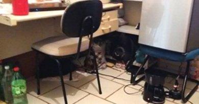 (Escritorio com Computador,INTERNET, telefone impresora dentro da cadeia em Itaituba-PA)