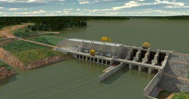 Imagem do projeto de como ficará a Usina Hidrelétrica Colíder, no rio Teles Pires