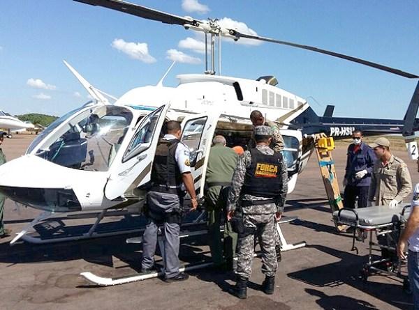 Helicóptero com subtenente em Sinop(MT)