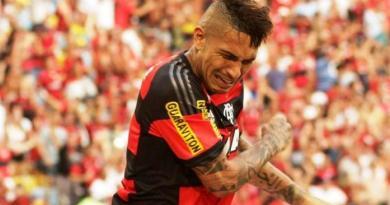 Guerrero chorou após marcar o segundo gol do Flamengo. Foto: Divulgação/Flamengo