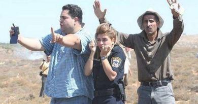 """Palestinos escoltaram agente gritando durante todo o percurso: """"não disparem, estamos protegendo ela"""" - Reprodução Twitter"""