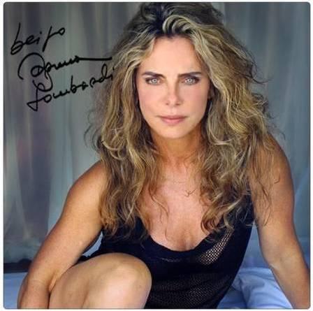 Aos 63 anos, Bruna Lombardi em outra foto de lingerie na cama, da mesma sequência do clique que gerou tanta repercussão. Foto: reprodução