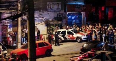 Um dos locais da série de ataques em Osasco e Barueri (Foto: Edison Temoteo/Futura Press/Estadão Conteúdo)