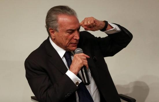 O vice-presidente Michel Temer em encontro de movimento anti-Dilma O vice-presidente Michel Temer em encontro de movimento anti-Dilma