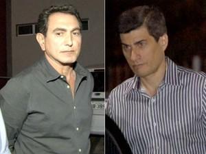Ex-secretários Pedro Nadaf (à esquerda) e Marcel de Cursi (à direita). (Foto: Reprodução/TVCA)