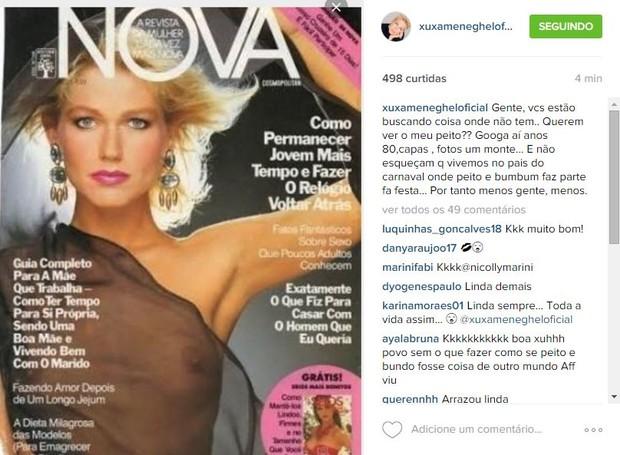 Xuxa mostra capa de revista (Foto: Instagram / Reprodução)
