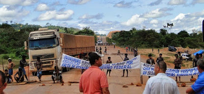 Protesto originou fechamento da rodovia