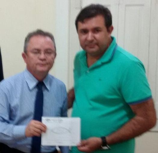 Macarrão ao lado do vice Governador Zequinha Marinho (PSC)
