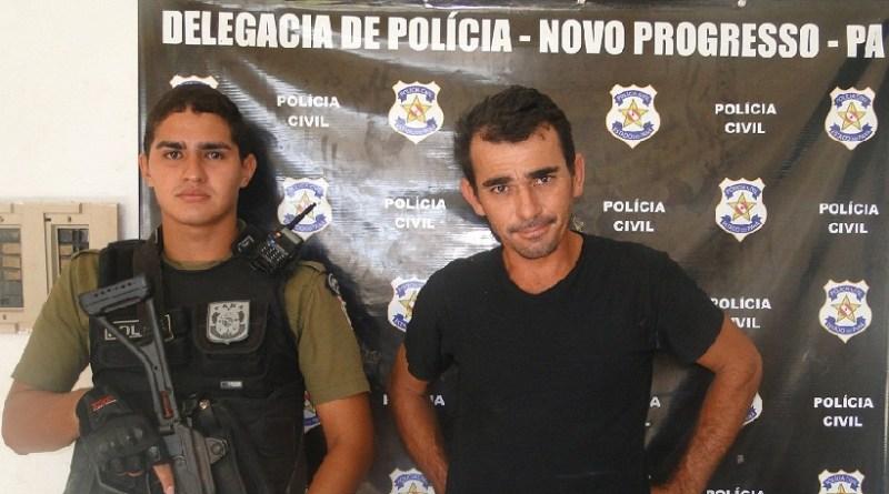PM Avelange e Preso Wilker Santana de Amaral (Foto -Jailton rosa Jornal Folha do Progresso )