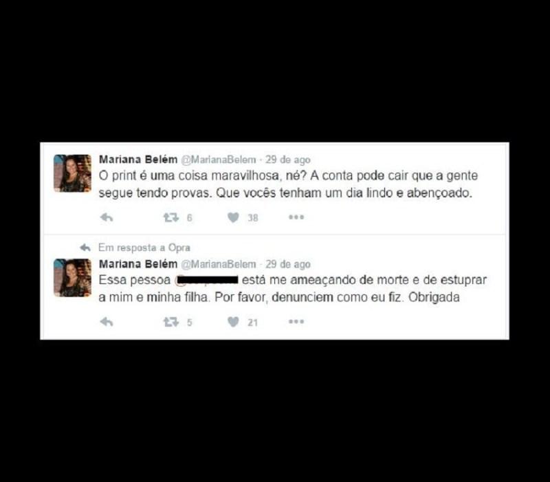 MARINA BELEM AMEAÇAS DE ESTRUPO