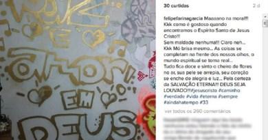Mensagem postada no Instagram de suspeito de matar e esquartejar a mãe (Foto: Reprodução/Instagram)