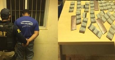 Caminhoneiro é preso com comprimidos de Anfetamina