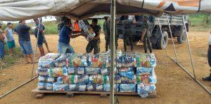 Defesa Civil acampamento distrito de Caracol (Trairão)