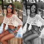 Mulher de Tiririca faz sucesso de biquíni na web