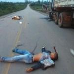 Motociclista morto em colisão com carreta é identificado