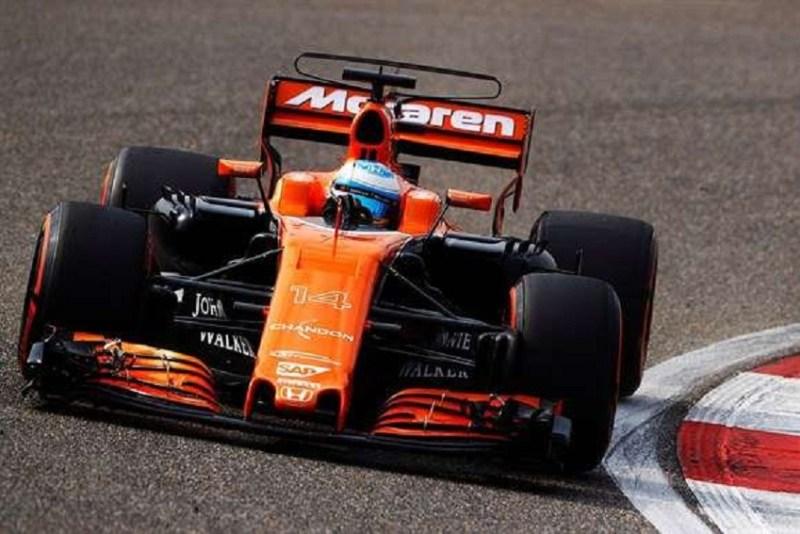 Rodada de Grosjean no Q1 do treino classificatório do GP da China (Foto: Reprodução)