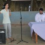 SEMMA-NP faz entrega de lixeiras ecológicas para escola municipal Tancredo Neves