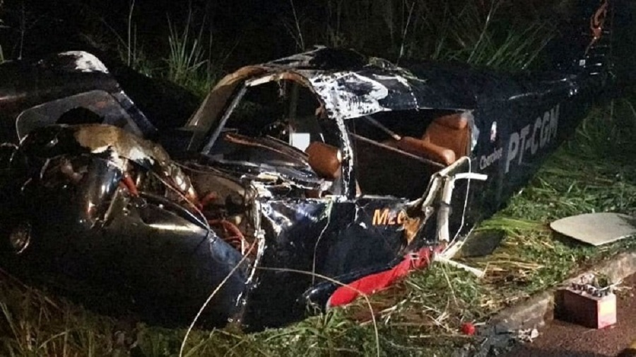 Avião cai em Parauapebas-PA e deixa dois feridos
